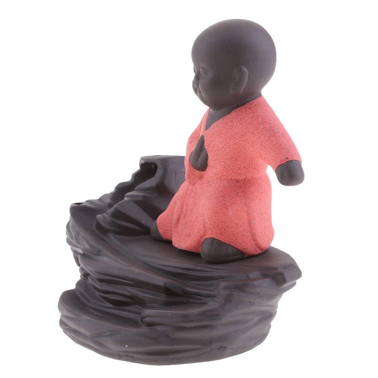 曲遠近法オアシスJiliオンラインクリエイティブホームDecor The Little Monk / Tathagata / Buddha Statue逆流香炉香炉 96b804dd59b6789b9ce09875d285d232