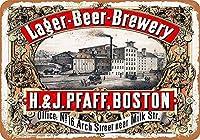 ボストンビール醸造所の壁の金属のポスターレトロなプラークの警告ブリキの看板ヴィンテージ鉄の絵画の装飾バーガレージカフェのための面白いハンギングクラフト