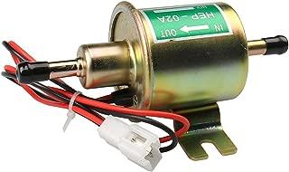 gasolina di/ésel HEP02A Bomba de combustible el/éctrica universal CarBole de 12 V de lat/ón 5-9 PSI bomba de combustible en l/ínea de baja presi/ón