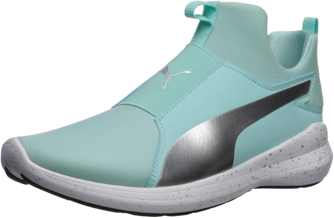 Amazon.com   PUMA Unisex-Adult Rebel Mid WNS Speckles Sneaker ...