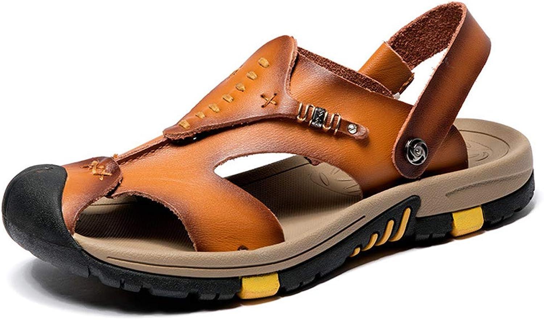 Men's Beach Sandals Fashion Leather Sandals Baotou shoes Sandals