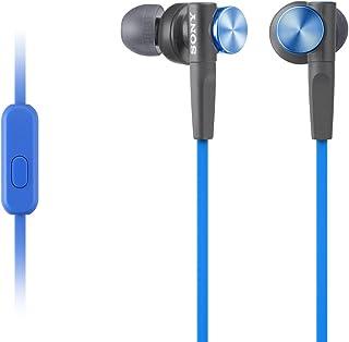 Sony MDR-XB50AP Cuffie In-Ear Extra Bass con Microfono, Auricolari in Silicone, Blu