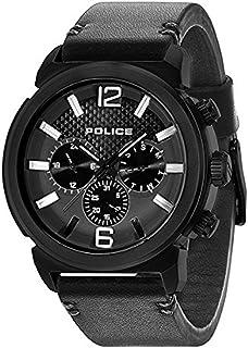 [ポリス]POLICE メンズ コンセプト マルチファンクション ブラック レザー PL14377JSB-02A 腕時計 [並行輸入品]