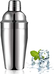 Leaflai Cocktail Shaker Cups Drink Mixer 24 oz, Martini Bar Kit Bartending Machine Bartender Tools, Strainer Mixing Barware Stainless Steel Home