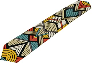 super3Dprinted African Art Tribal Print Rectangle Table Runner, for Office Kitchen Wedding Party Home Decor, 13 x 70 Inch