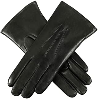 Dents Ripley Fur Lined Leather Womens Gloves 6.5 inches Black