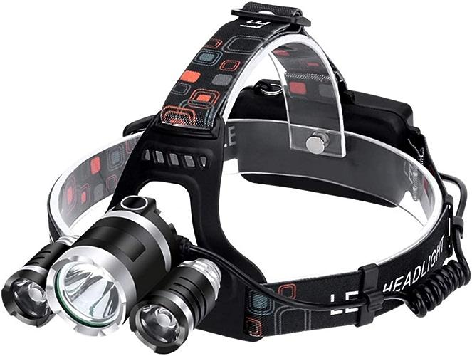 LGF Helmet Sports de Plein air Nuit tête Torche Vie imperméable à l'eau Peut Ferme projecteur LED Super Lumineux Clair projecteur Ultra-Longue Endurance Rechargeable Lampe Frontale