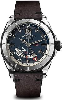 Armand Nicolet Gents-Wristwatch S05 GMT Date Analog Automatic A713AGN-BU-PK4140TM