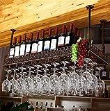 Adornos de Navidad Altura ajustable Colgando estante del vino Copa de cristal, copas bastidores Al revés que cuelga taza taza del estante del vino del vino del metal estante de vidrio Champagne Decora
