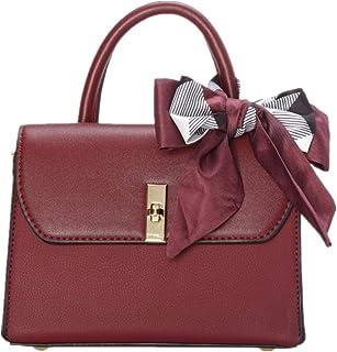 CHRISBELLA Elegant Handbags for Women Top Handle Leather Shoulder bags Fashion Crossbody Purse with Scarf