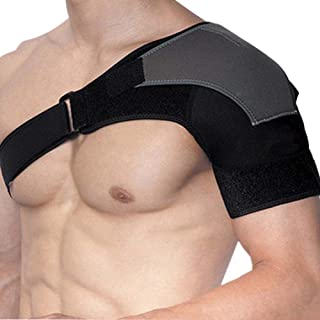 COYUE Shoulder Support Brace Adjustable Wrap Provides Stability for Protector Shoulder Injury Prevention and Help Recovery