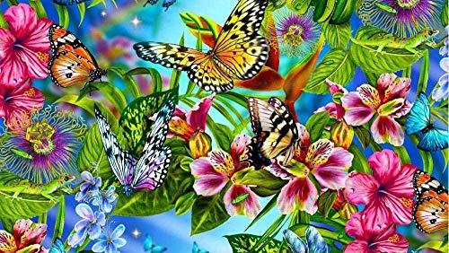 YYTTLL Puzzle 1000 Teile Puzzel Für Erwachsene Kind Puzzles-Blumen Und Schmetterlinge -Aus Holz Puzzle Art DIY Juego De Ocio Fun Geschenk Spielzeug, Kinder