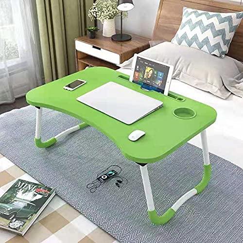 Escritorio de mesa plegable portátil del escritorio de la mesa de la mesa de la cama de la cama de madera para el escritorio de la cama del laptop del sofá del sofá del té plegable del escritorio