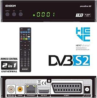 comprar comparacion Edision Piccollino S2 - Receptor de satélite Full HD, H.265/HEVC, DVB-S & S2, Tarjeta Lector USB, color Negro