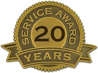 20 Years of Service Award Lapel Pin