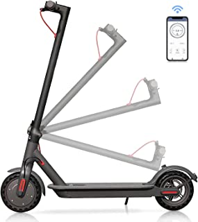Skran 350W Elektrisk Scooter 10.4AH, vuxen lätt hopfällbar scooter, 30km/h,APP-kontroll, svart elektrisk scooter,35 km lån...