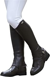 Children's Equileather Half Chaps Black Small US
