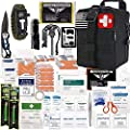EVERLIT 250 Pieces Survival First Aid Kit IFAK Molle System Compatible Outdoor Gear Emergency Kits Trauma Bag for Camping Boat Hunting