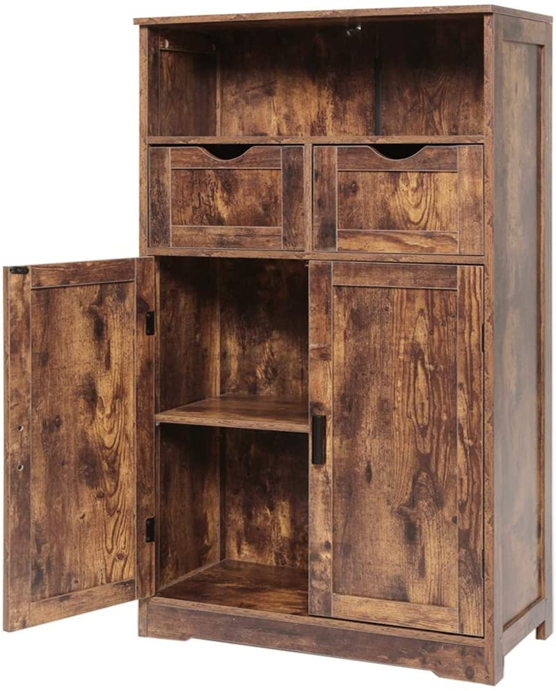 IWELL Large Storage Cabinet with Drawers 2 Ultra-Cheap Deals Shelf Adjustable Max 64% OFF