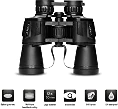 VISSSVI 12x50 High Power Binoculars for Adults,Compact HD Durable Full-Size Binoculars Telescope for Bird Watching Travel Hunting Sports Football-BAK4 Prism FMC Lens(with Case and Strap)