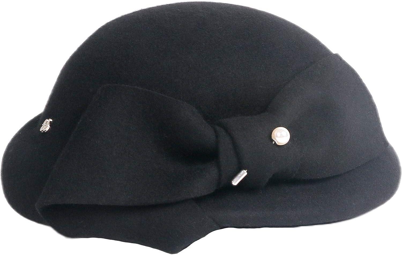 F FADVES Vintage Wool Felt Cloche Church Hat Women Atlanta Mall Ranking TOP6 Bucket Bowler