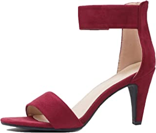 c8a1a7a59873 Guilty Shoes Women s Ankle Strap Open Toe Comfortable High Heels Dress  Wedding Party Heeled Sandals