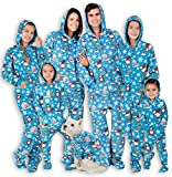 Footed Pajamas - Family Matching Polar Hoodie Onesies for Boys, Girls, Men, Women and Pets - Adult - Medium (Fits 5'8-5'11')