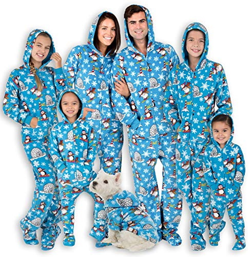 Footed Pajamas - Family Matching Polar Hoodie Onesies for Boys, Girls, Men, Women and Pets - Pet - Small (Fits Up to 15 lbs)