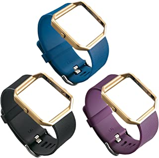 UCAI 3 Color Fitbit Blaze Bands for Women Men Replacement Accessory,Fitbit Blaze Wristbands,Large&Small Bands for Fitbit Blaze Smart Fitness Watch (No Tracker or Frame)