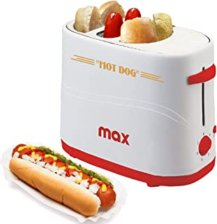 Bakaji Macchina Per Hot Dog con Alloggio Wurstel e Pane Potenza 650W Hotdog Maker 5 Livelli di Cottura per Casa Party Fest...
