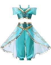 62fc0a36b117c プリンセスなりきり アラビア風お姫様 ハロウィン衣装 Touyoor ジャスミンコスチューム 仮装 女の子 女児 キッズドレス 上下