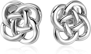 925 Sterling Silver Celtic Knot Stud Earrings (8 mm)