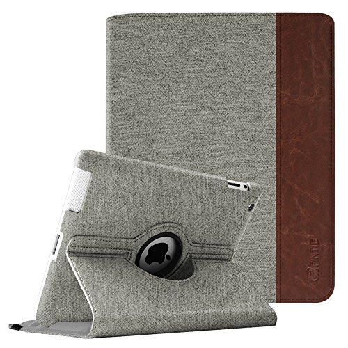 Fintie Hülle für iPad 2 / iPad 3/ iPad 4, 360 Grad verstellbare Schutzhülle Cover mit Standfunktion, Auto Sleep/Wake für iPad mit Retina Display (iPad 4. Generation), iPad 3 & iPad 2, Denim grau