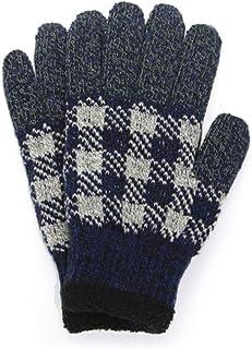 iina!closet(イイナクローゼット) 手袋 メンズ 暖かい 日本製 スマホ対応 裏ボア 2重構造 グローブ 防寒 秋 冬 ギンガムチェック柄 4color