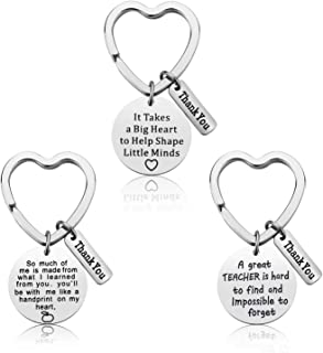 Teacher Appreciation Gift - 3PCS Teacher Keychain Set for Women Thank You Gifts for Teachers Birthday Valentine's Day Chri...