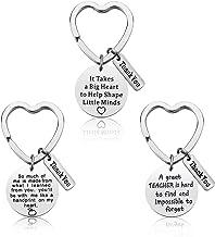 Teacher Appreciation Gift - 3PCS Teacher Keychain Set for Women Thank You Gifts for Teachers Birthday Valentine's Day Christmas Gifts for Teachers