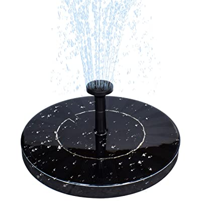 MADETEC Solar Water Fountain Pump with Battery ...