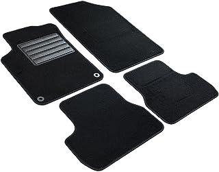 Citroen DS3 2010 sur mesure voiture tapis de sol moquette noir mat rose bordure