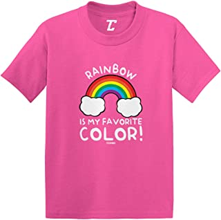 Rainbow is My Favorite Color - Colorful Infant/Toddler Cotton Jersey T-Shirt