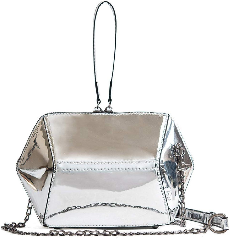 AI BAO Women's Laser Handbag Individual Chain Shoulder Bag Simple Wild Messenger Bag