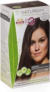 Naturigin Hair Colour - Permanent - Brown - 1 Count - Dairy Free - Yeast Free - Vegan - Certified Organic Ingredients