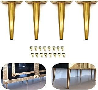 4Pcs 7.5'' Furniture Cabinet Metal Legs Kitchen Tall Sleek Tapered Leg, Brushed Nickel Finish, Sofa Table Bed Legs
