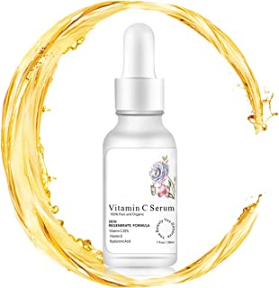 Vitamin C Serum for FaceTopical Facial Serum with Hyaluronic Acid Vitamin E for Whitening Anti Aging