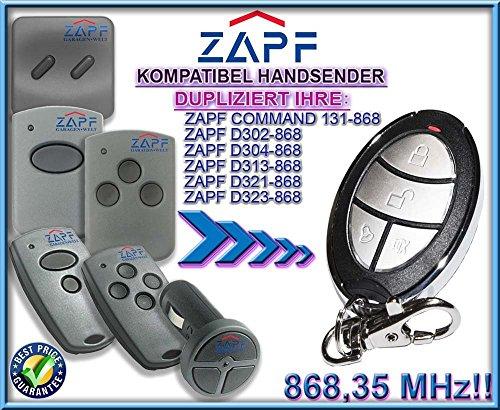ZAPF command 131 / D302 / D304 / D313 / D 321 / D323 kompatibel handsender, klone fernbedienung, 4-kanal 868,3Mhz fixed code. Top Qualität Kopiergerät!!!