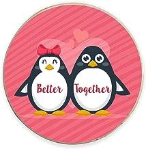 Yaya Cafe® Birthday Gifts for Boyfriend Girlfriend & Husband Wife, Fridge Magnet Better Together - Round Valentine