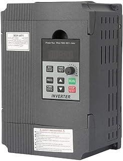 VFD, 220V Controlador universal de velocidad de variador monofásico VFD de frecuencia monofásica para motor de CA trifásico de 1.5kW