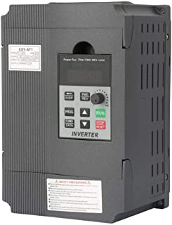 VFD,220V Universal Mini Single-Phase Variable Frequency Drive VFD Speed Controller for 3-Phase 1.5kW AC Motor