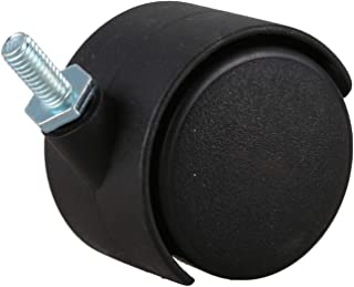 Bayda 6 mm draadstang 40 mm dubbel wiel Caster zwart