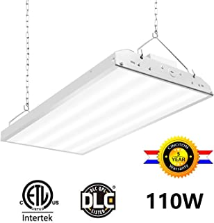 CINOTON 2FT Linear LED High Bay Light, LED Shop Light Fixture 110W 14300Lumens 1-10V dimmable 5000K [4 Lamp Fluorescent Equivalent] Motion Sensor Optional, Indoor Commercial Warehouse Area Light