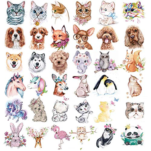 36 Sheets Animals Theme Temporary Tattoos for Kids, Animal Tattoos Featured Zoo Patterned Body Art Waterproof Temporary Tattoos Toddler Tattoos, Fake Waterproof Tattoos for Boys Girls